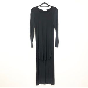 Robert Rodriguez Long Sleeve Fitted High Low Dress